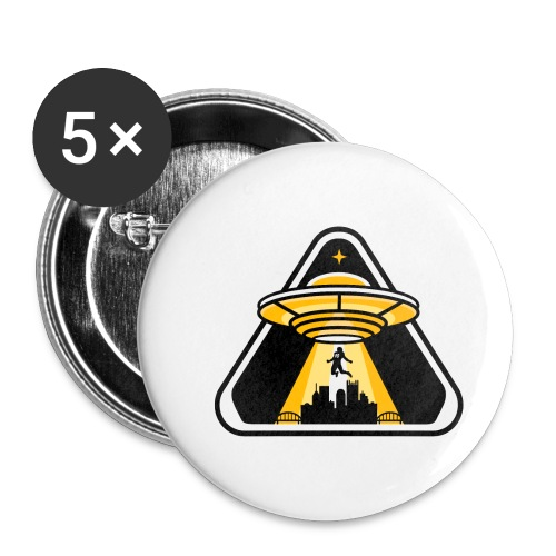 Visiting from Another Planet 90 - Buttons small 1'' (5-pack)
