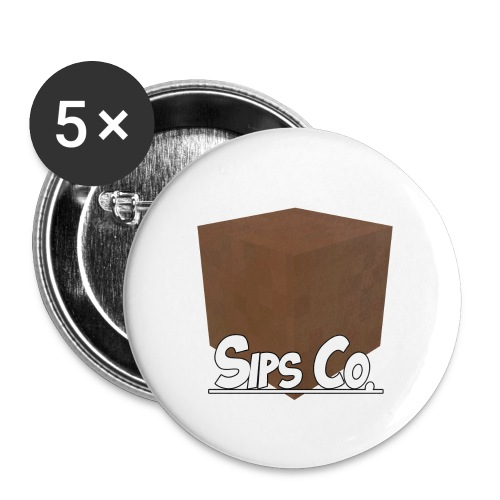 Sipsco Dirt - Buttons small 1'' (5-pack)