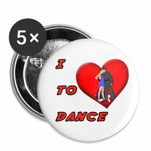 I Heart Dance - Buttons small 1'' (5-pack)