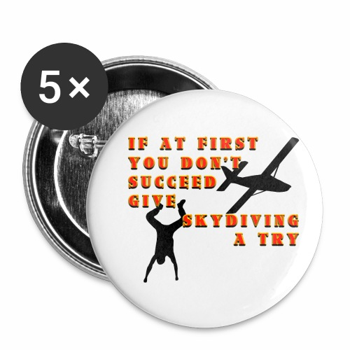 Try Skydiving - Buttons small 1'' (5-pack)
