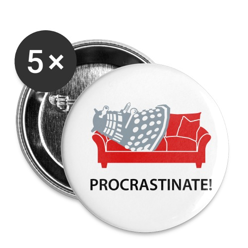 Dalek Procrastinate - Buttons small 1'' (5-pack)