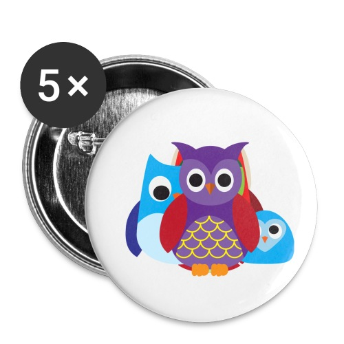 Cute Owls Eyes - Buttons small 1'' (5-pack)