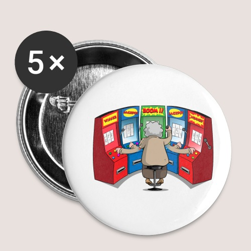 THE GAMBLIN' GRANNY - Buttons small 1'' (5-pack)