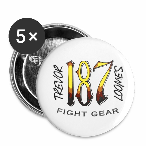 Coloured Trevor Loomes 187 Fight Gear Logo - Buttons small 1'' (5-pack)