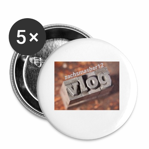 Vlog - Buttons small 1'' (5-pack)