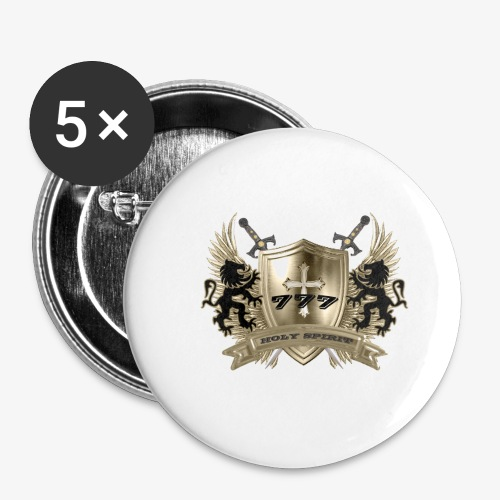 HOLY SPIRIT GOLD SHIELD - Buttons small 1'' (5-pack)