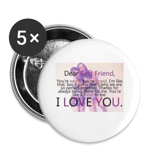 Cute best friends - Buttons small 1'' (5-pack)