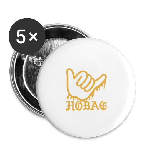 BLACK - HOBAG LOGO - Buttons small 1'' (5-pack)