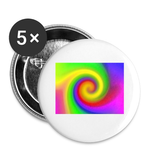 color swirl - Buttons small 1'' (5-pack)