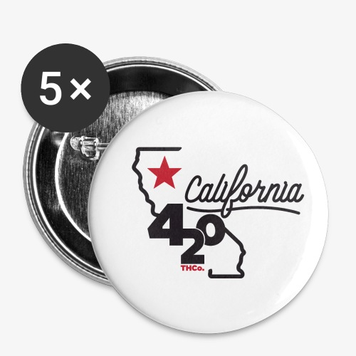 California 420 - Buttons small 1'' (5-pack)