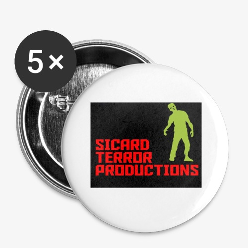 Sicard Terror Productions Merchandise - Buttons small 1'' (5-pack)