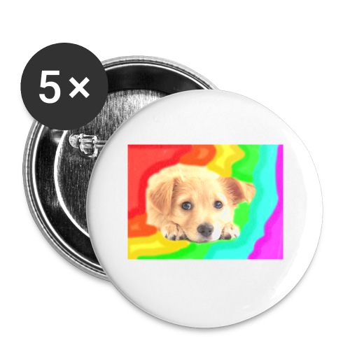 Puppy face - Buttons small 1'' (5-pack)