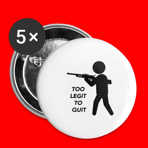 OxyGang: Too Legit To Quit Products - Buttons small 1'' (5-pack)