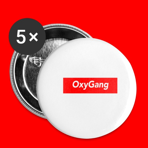 OxyGang: Red Box Products - Buttons small 1'' (5-pack)