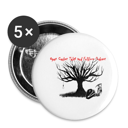 Open Casket Tales & Folklore Tree - Small Buttons