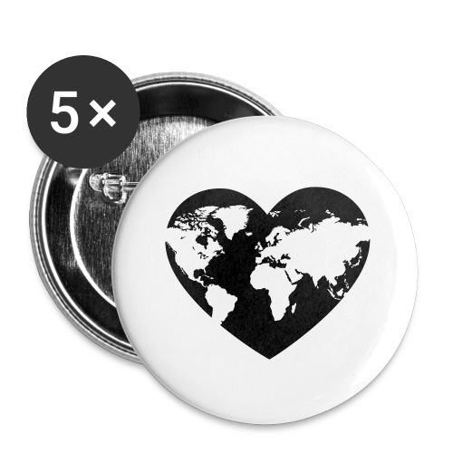 Earth Love - Buttons small 1'' (5-pack)