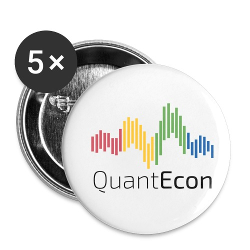 QuantEcon Official Logo - Buttons small 1'' (5-pack)