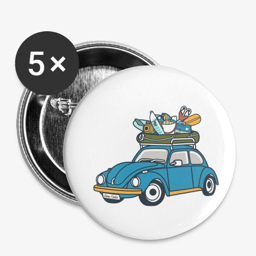 Gone Fishin' - Buttons small 1'' (5-pack)