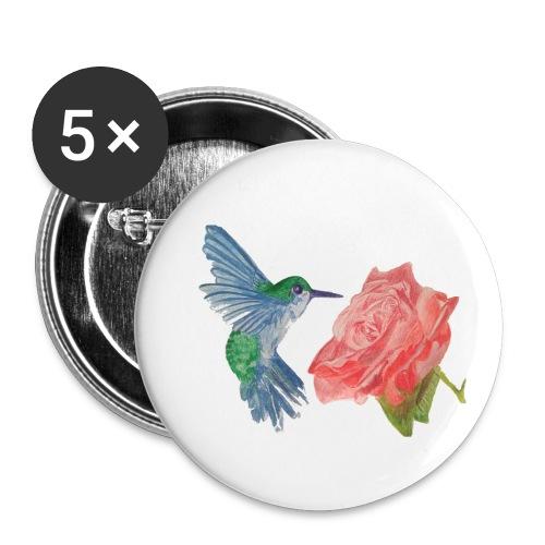 Hummingbird - Buttons small 1'' (5-pack)