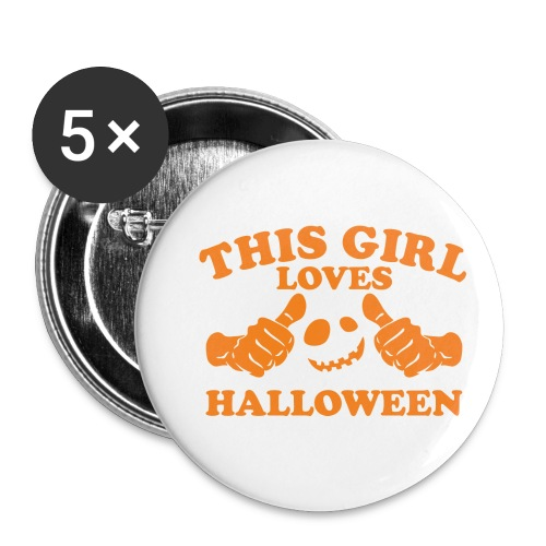 This Girl Loves Halloween - Buttons small 1'' (5-pack)