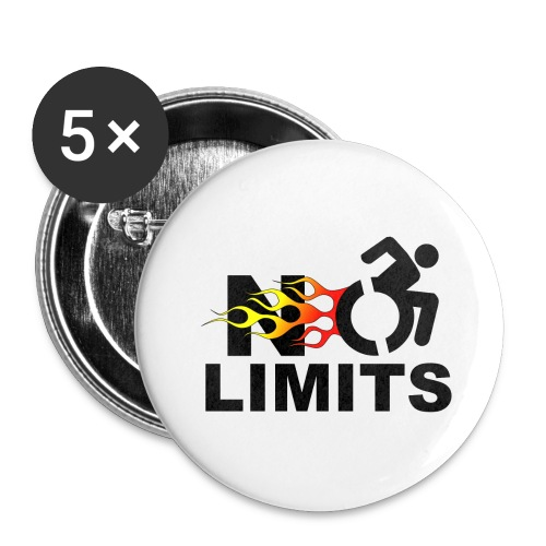 No limits for me with my wheelchair - Buttons small 1'' (5-pack)
