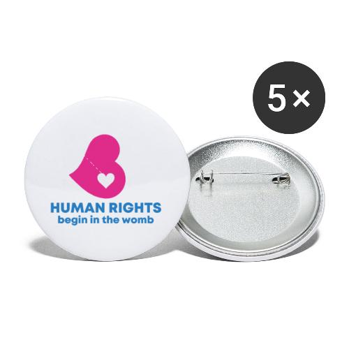 HUMAN RIGHTS - Buttons small 1'' (5-pack)