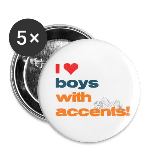 accentsWhite png - Buttons small 1'' (5-pack)