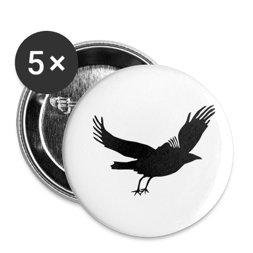 Crow - Buttons small 1'' (5-pack)