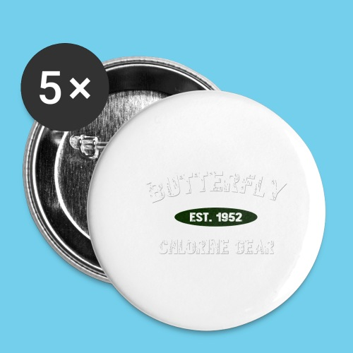 Butterfly est 1952-M - Buttons small 1'' (5-pack)