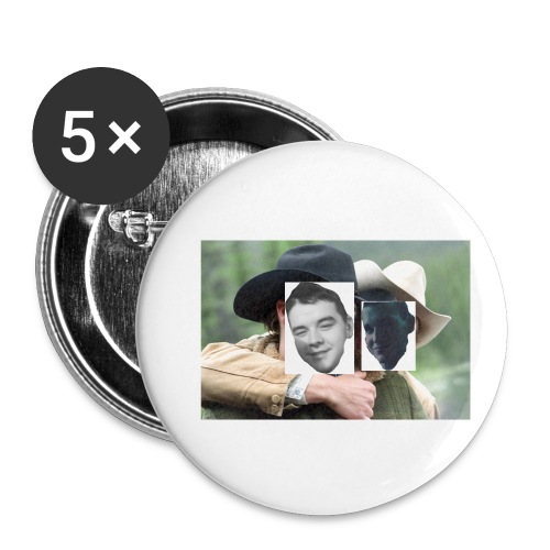 Darien and Curtis Camping Buddies - Buttons small 1'' (5-pack)