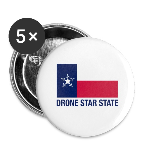 Drone Star State - Long Sleeve - Buttons small 1'' (5-pack)