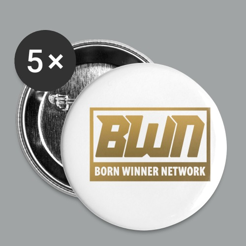 BWN (Gold) - Buttons small 1'' (5-pack)
