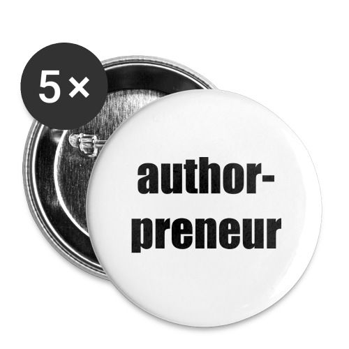 Author-preneur - Buttons small 1'' (5-pack)