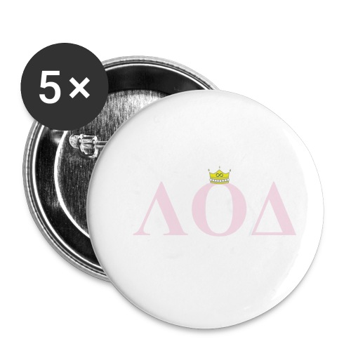 Crown Pink Letters - Buttons small 1'' (5-pack)