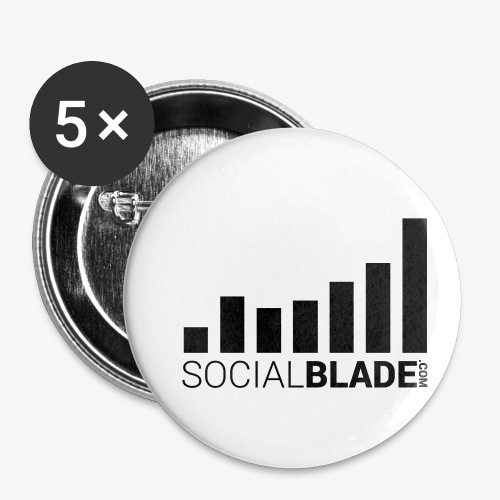 Socialblade (Dark) - Buttons small 1'' (5-pack)