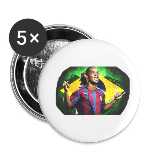 Ronaldinho Brazil/Barca print - Buttons small 1'' (5-pack)