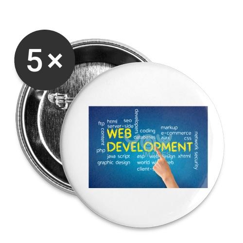 web development design - Buttons small 1'' (5-pack)