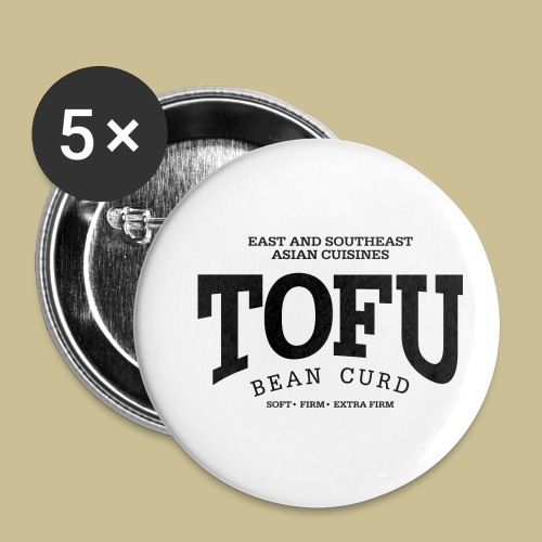 Tofu (black) - Buttons small 1'' (5-pack)