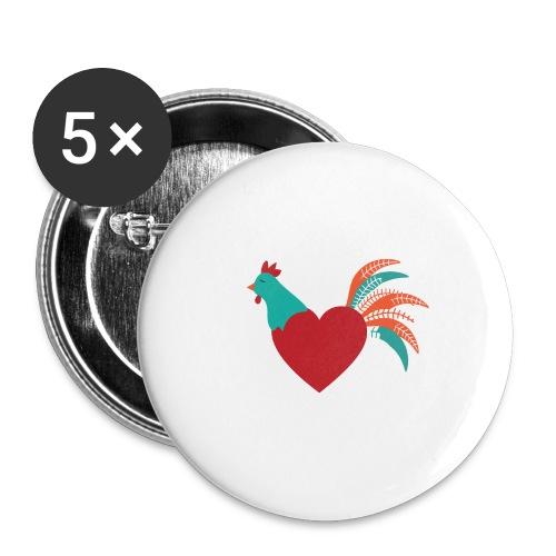 Chicken Heart - Buttons small 1'' (5-pack)