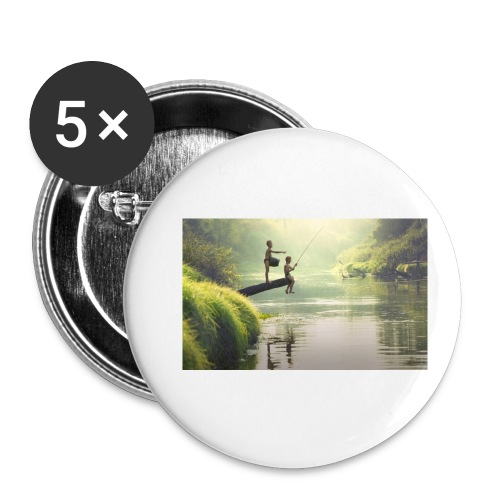 fishing - Buttons small 1'' (5-pack)