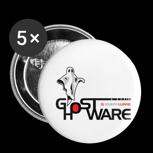 Ghostware Wide Logo - Buttons small 1'' (5-pack)