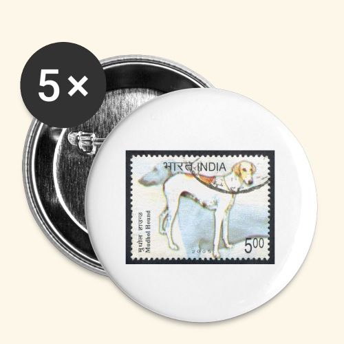 India - Mudhol Hound - Buttons small 1'' (5-pack)