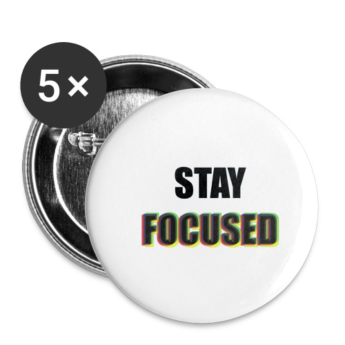 focused - Buttons small 1'' (5-pack)