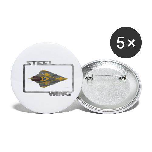 STEEL WING - Buttons small 1'' (5-pack)