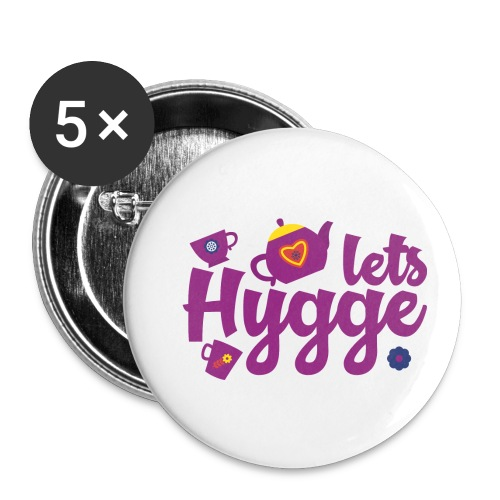 Lets Hygge - Buttons small 1'' (5-pack)