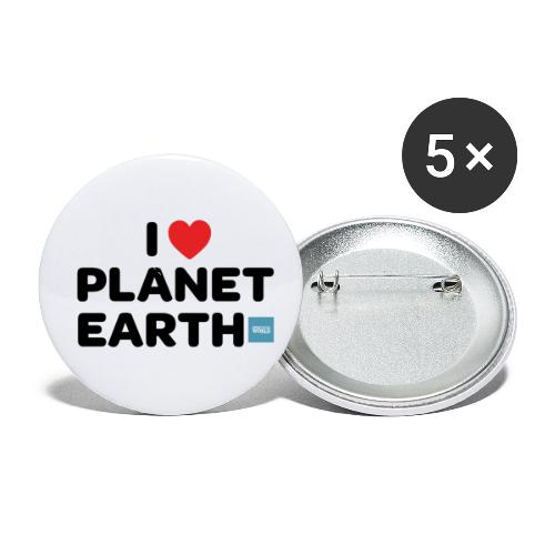I Heart Planet Earth - Buttons small 1'' (5-pack)