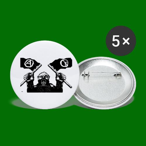 anarchy and peace - Buttons small 1'' (5-pack)