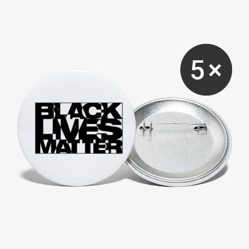 Black Live Matter Chaotic Typography - Buttons small 1'' (5-pack)