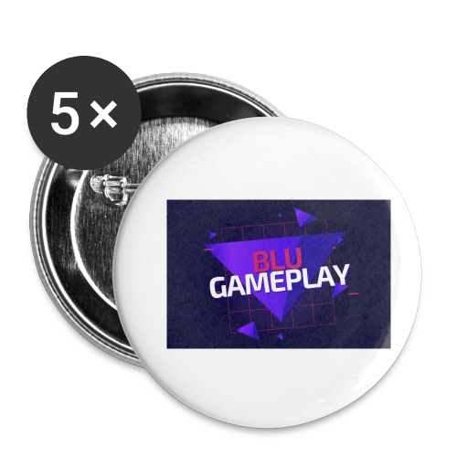 Retro Blu Gameplay - Buttons small 1'' (5-pack)