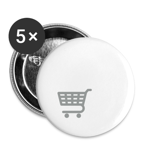 shopping CART sm - Buttons small 1'' (5-pack)